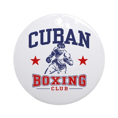 Cuban Boxing Ornament (Round)