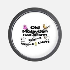 Old McJayden Had a Farm Wall Clock