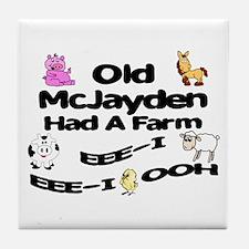 Old McJayden Had a Farm Tile Coaster