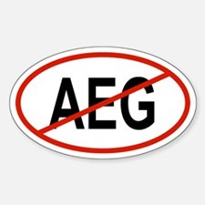 AEG Oval Decal
