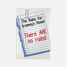 No Rules at Grammy's House! Rectangle Magnet