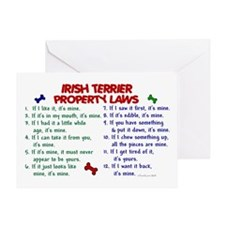 Irish Terrier Property Laws 2 Greeting Card