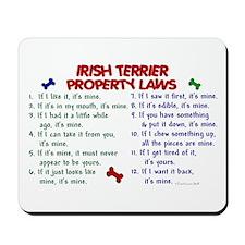 Irish Terrier Property Laws 2 Mousepad