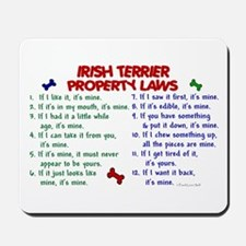 Irish Terrier Property Laws 2 Mousepad