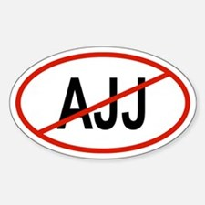 AJJ Oval Decal