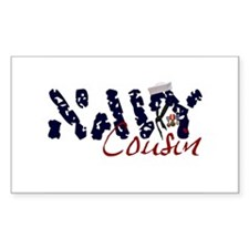 Navy Cousin Rectangle Decal