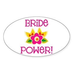 Bride Power Oval Decal