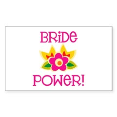 Bride Power Rectangle Decal