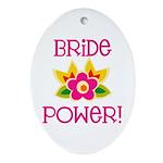 Bride Power Oval Ornament