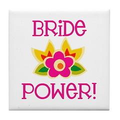 Bride Power Tile Coaster