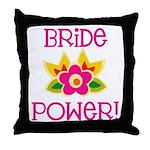 Bride Power Throw Pillow