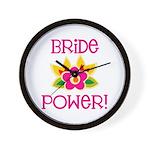 Bride Power Wall Clock