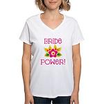 Bride Power Women's V-Neck T-Shirt