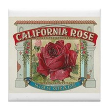 California Rose Tile Coaster