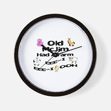 Old McJim Had a Farm Wall Clock
