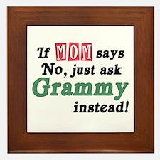 Just Ask Grammy! Framed Tile