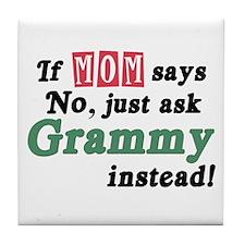 Just Ask Grammy! Tile Coaster