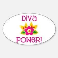 Diva Power Oval Decal