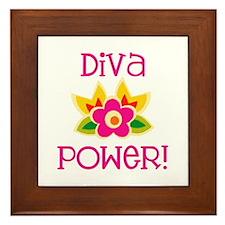 Diva Power Framed Tile
