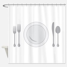 Place Setting Shower Curtain