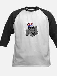 Republican Elephant Mascot Head Top Hat Cartoon Ba