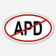 APD Oval Decal