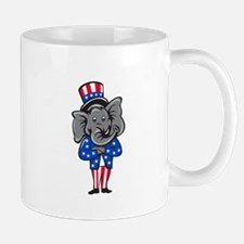 Republican Elephant Mascot Arms Crossed Standing C