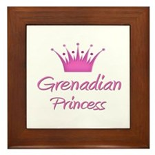 Grenadian Princess Framed Tile