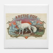 Arctic Fox Tile Coaster