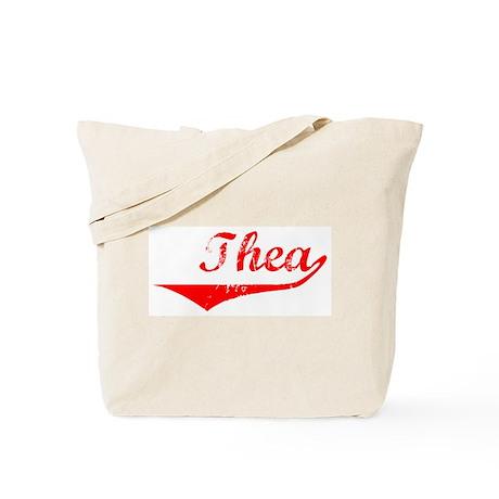 Thea Vintage (Red) Tote Bag