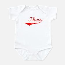 Thea Vintage (Red) Infant Bodysuit
