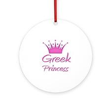 Greek Princess Ornament (Round)