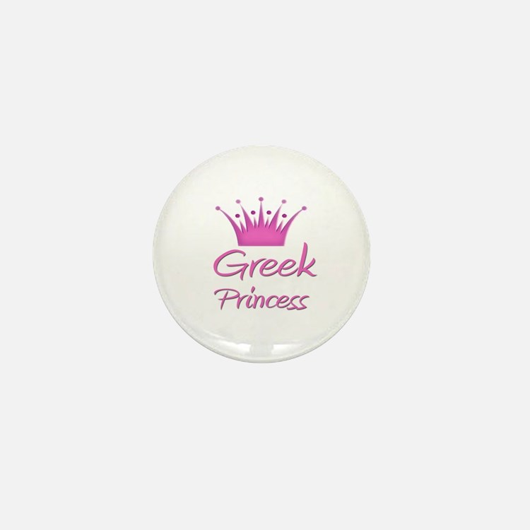 Greek Princess Mini Button