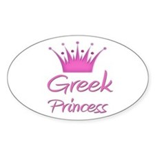 Greek Princess Oval Decal