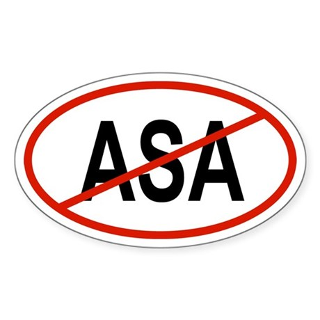 ASA Oval Sticker