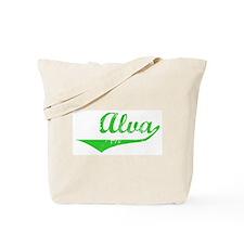 Alva Vintage (Green) Tote Bag