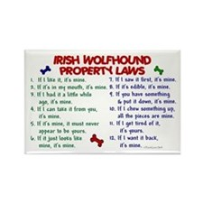 Irish Wolfhound Property Laws 2 Rectangle Magnet