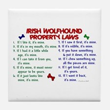 Irish Wolfhound Property Laws 2 Tile Coaster