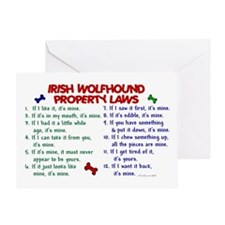 Irish Wolfhound Property Laws 2 Greeting Card