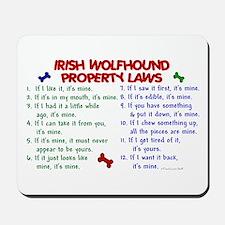 Irish Wolfhound Property Laws 2 Mousepad
