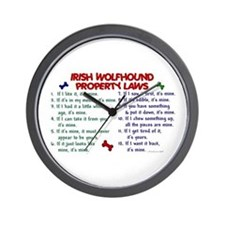 Irish Wolfhound Property Laws 2 Wall Clock