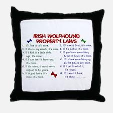 Irish Wolfhound Property Laws 2 Throw Pillow