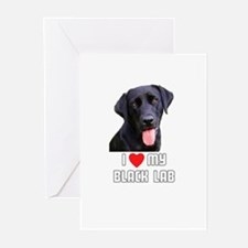 I Love My Black Lab Greeting Cards (Pk of 10)