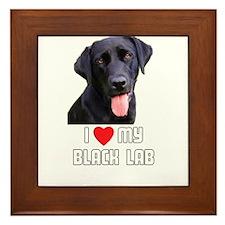 I Love My Black Lab Framed Tile
