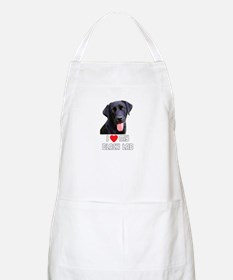 I Love My Black Lab BBQ Apron