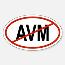 AVM Oval Decal