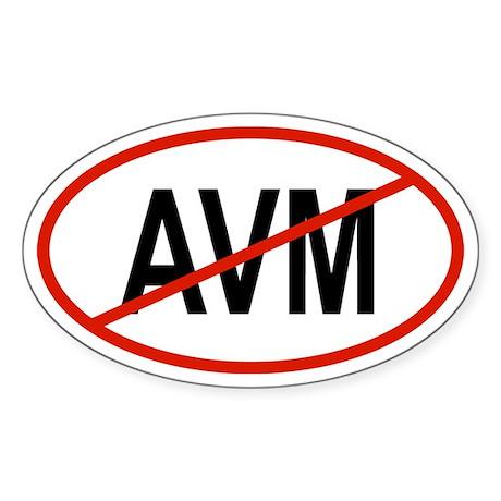 AVM Oval Sticker