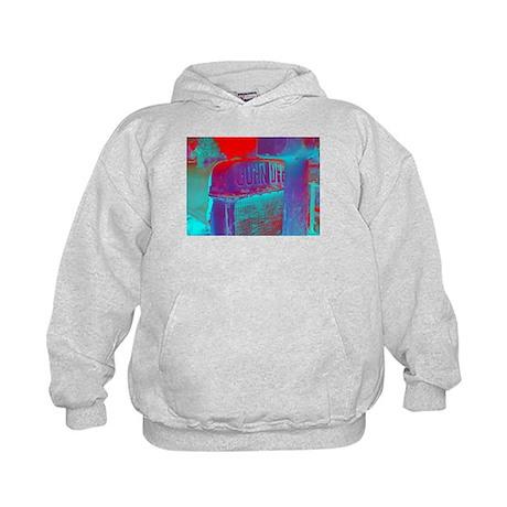Neon John Deere / Blue Kids Hoodie