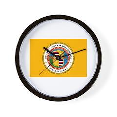 Honolulu Flag Wall Clock