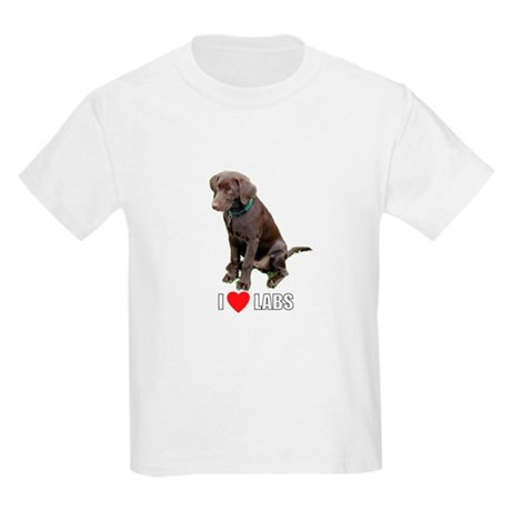 I Love Labs Kids Light T-Shirt